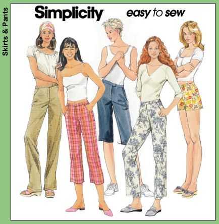 Simplicity Pants and Shorts 7196