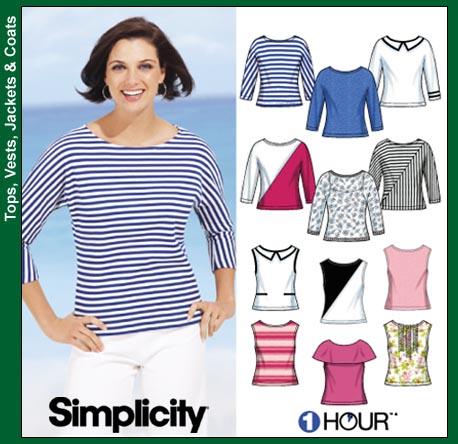 Simplicity 1 Hour Tops 7222