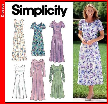Simplicity OOP dress as a costume 8084