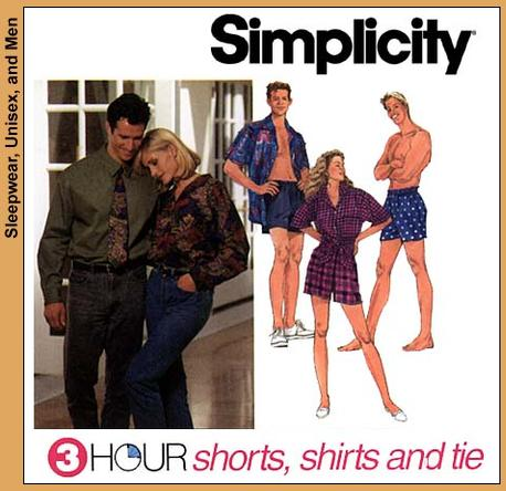 Simplicity 3 Hour Shirt/Short/Tie 8150