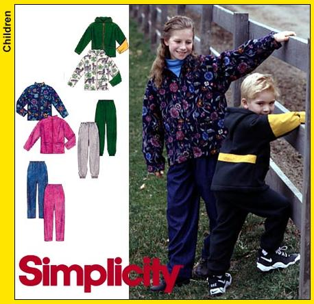 Simplicity Kids Jackets and Pants 8342