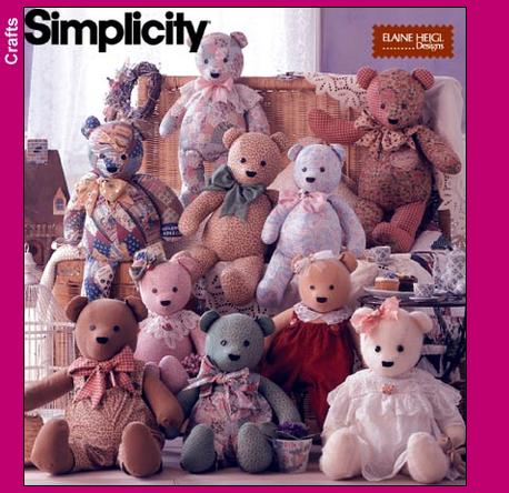 Simplicity Bears, overalls and collars 8418