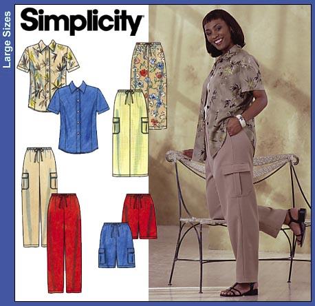 Simplicity Pants, Skirt & Blouse 8659