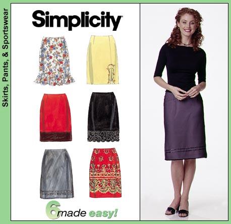 Simplicity A line skirt 8664