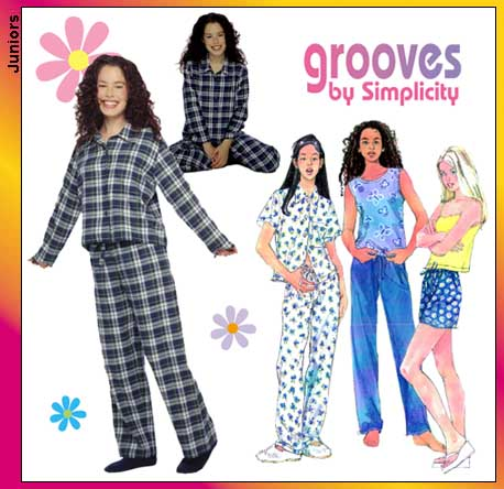 Simplicity Grooves: junior pajamas 8911