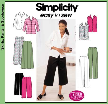 Simplicity Misses Skirt, Shirt & Pants 9158