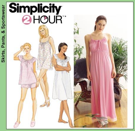 Simplicity 2 Hour Sleepwear 9202