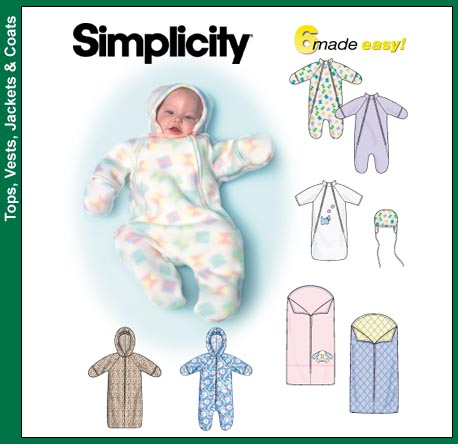 Simplicity Baby Buntings and Hats 9418