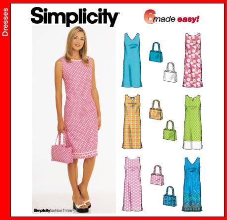 Simplicity Misses Dress & Purse 9620