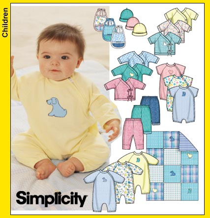 Simplicity baby layette 9782