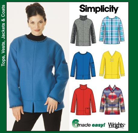 Simplicity Fleece Tops 9814