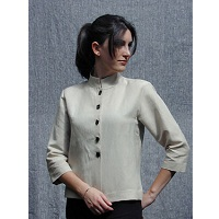 Textile Studio Mandarin Shirt Jacket