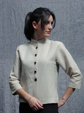 Textile Studio Mandarin Shirt Jacket 1213