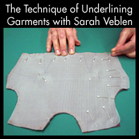 The Technique of Underlining Garments
