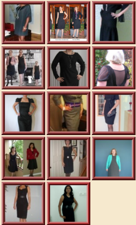 The Little Black Dress Contest Collage