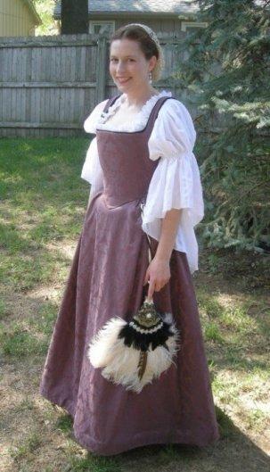 Member In Focus stirwatersblue models one of her historical costumes