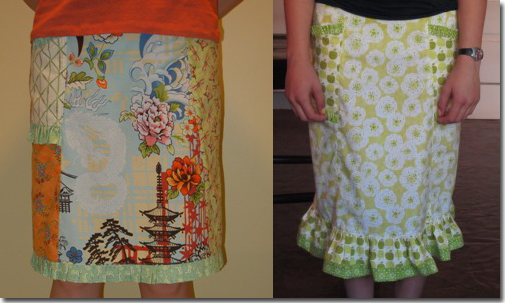 Kay Whitt's Sew Serendipity: Fresh and Pretty Designs to Make and Wear - Left: KrissyB  Right: Carolinalu