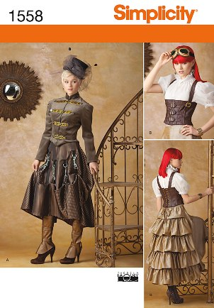 Simplicity 1558 Misses' Steampunk Costume