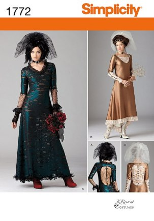 Simplicity 1772 Misses' Steampunk Costume