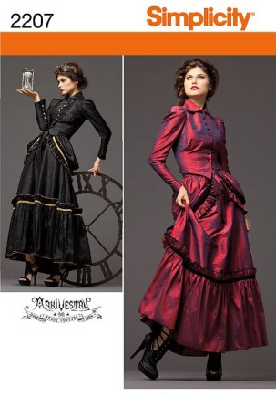 Simplicity 2207 Misses' Steampunk Costume