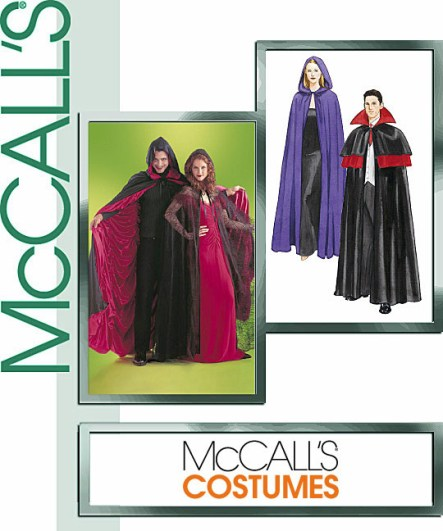 McCall's 4139 Cape Costume, Lined or Unlined