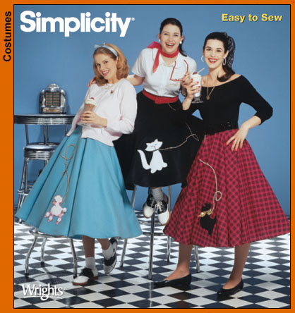 Simplicity 5403 Misses' Poodle Skirts