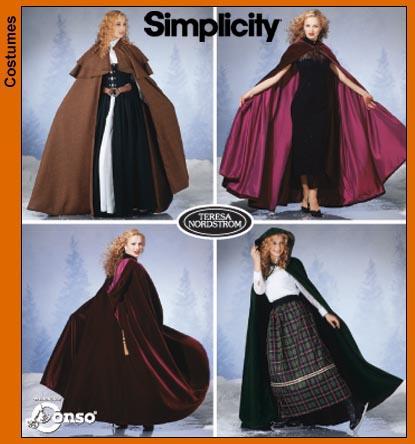 Simplicity 5794 Misses' Capes