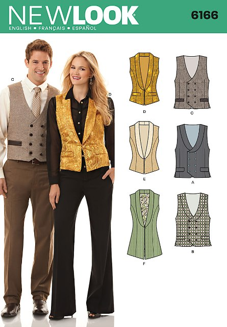 New Look 6166 Misses and Men's Vest