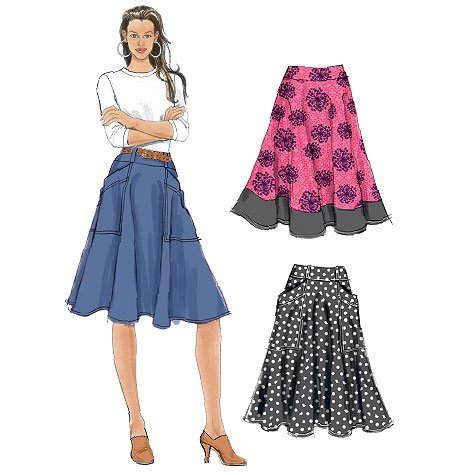 McCall's 6585 Misses' Skirts