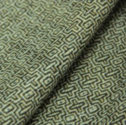 Exquisite Fabrics Soft geometric tweed in browns, beiges, and aqua.