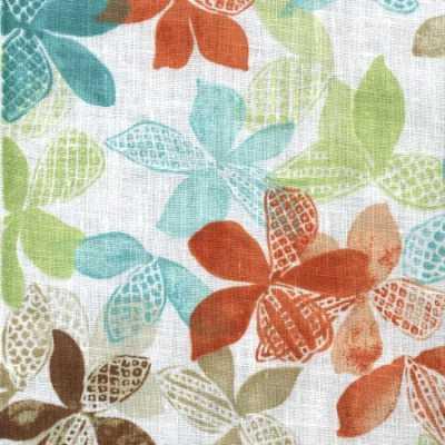 Plush Cat Star Clusters Floral Linen Print