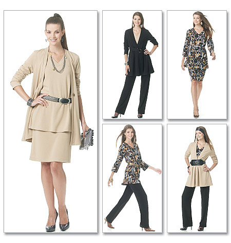 McCall's 6247 Misses' Jacket, Tops, Sash, Skirt And Pants