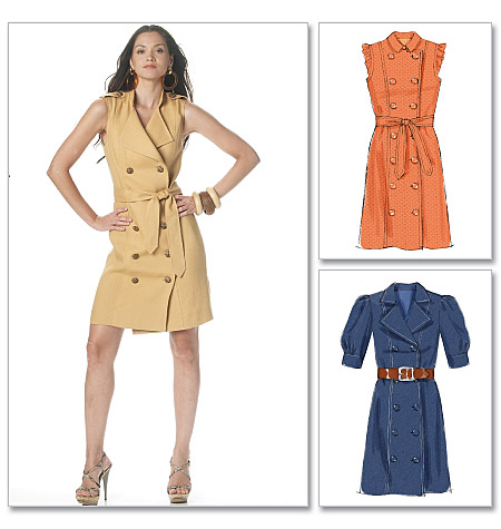 McCall's 6279 Misses' and Women's Dress and Belt