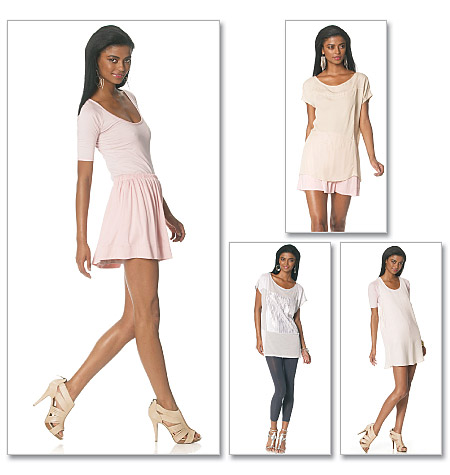 McCall's 6288 Misses' Top, Dress and Skirt