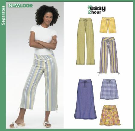 New Look 6354 Misses Pants, Shorts, Skirts