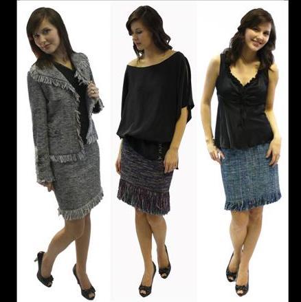 Angela Wolf 3106 The Fringe Skirt