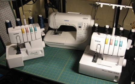 Sewing machine and sergers