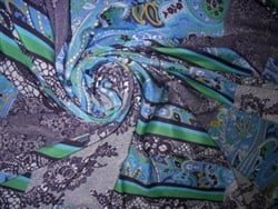 Printed Poly Crepe de Chine. France