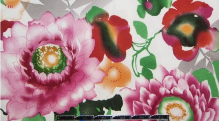 NY designer flower garden cotton/lycra woven