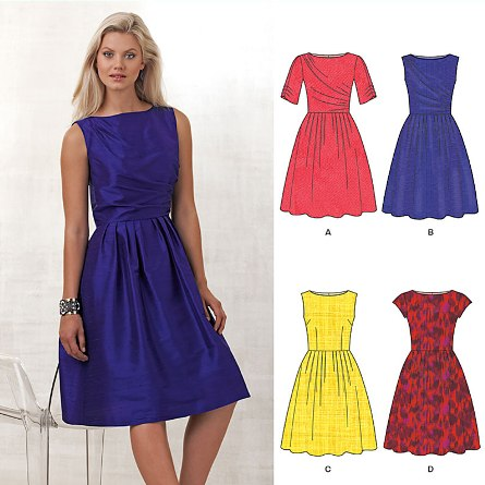 New Look 6223 Misses' Dress with Bodice Variations