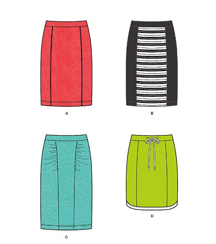 New Look 6228 Misses' Knit Pencil Skirt