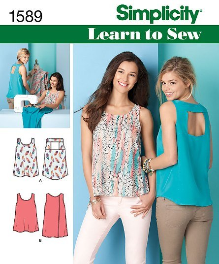 Simplicity 1589 Misses' Learn to Sew Tops