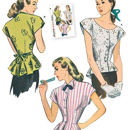 Simplicity 1590 Misses' 1940s Retro Blouse