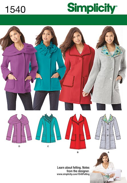 Simplicity 1540 Misses' and Petite Jackets