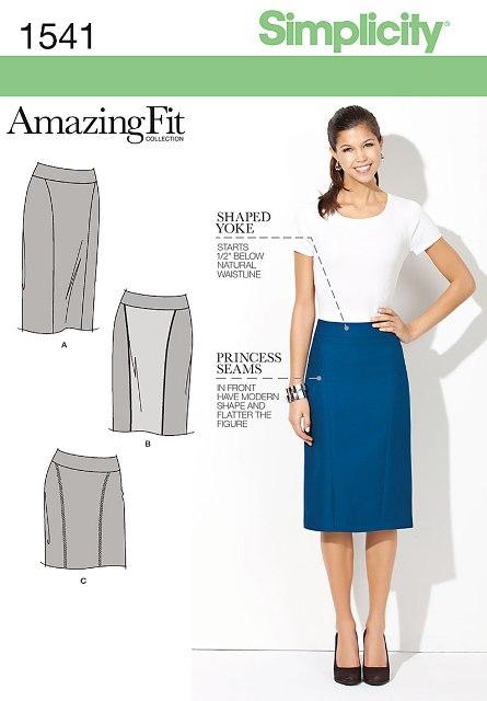 Simplicity 1541 Misses' & Miss Petite Amazing Fit Skirt