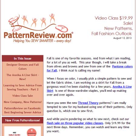August 13, 2013 Newsletter