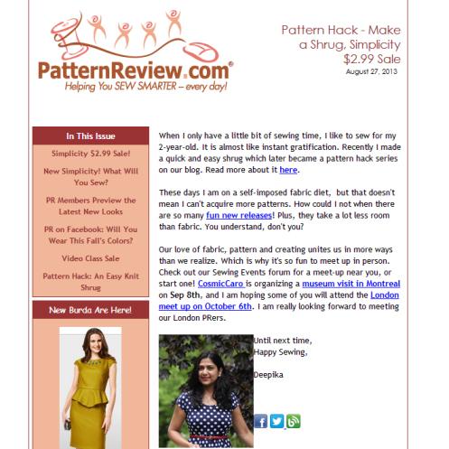 August 27, 2013 Newsletter