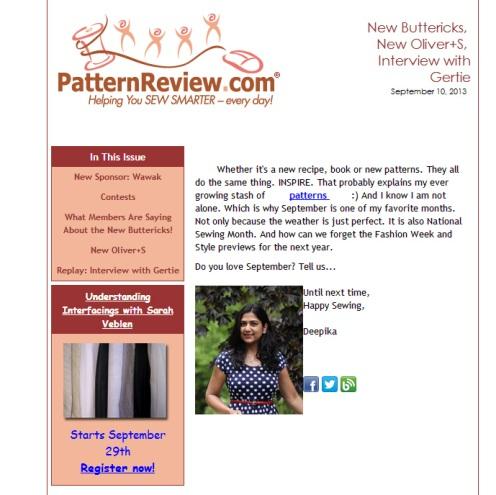 September 10, 2013 Newsletter