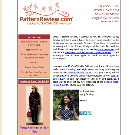 September 3, 2013 Newsletter