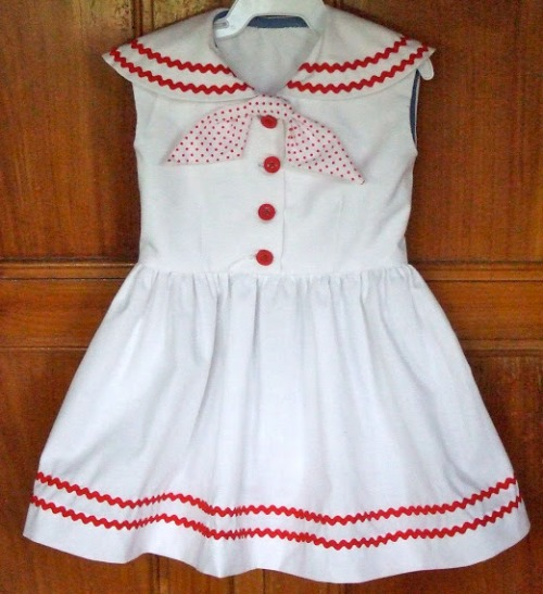Butterick: 7186 (circa 1955) Girls Sailor Dress